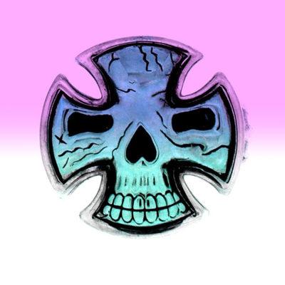 Lolan T Lookbook Golgotha Collection Rings Pattee Cross Skull Large