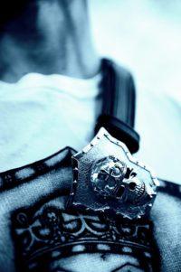 Lolan T Lookbook Golgotha Collection Buckles King Skull