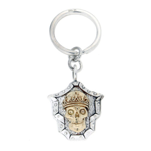 Golgotha Keychain Skull King Silver Rose Gold Yellow Gold