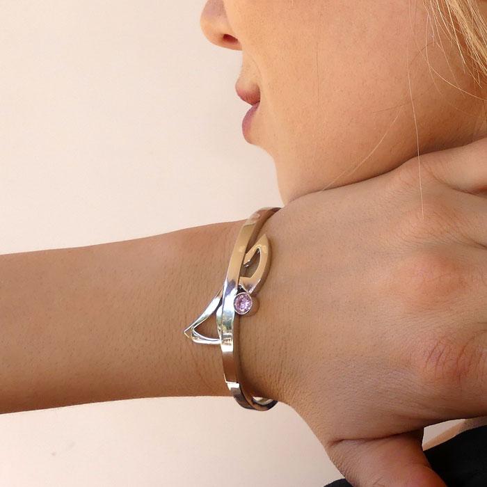 MOD Bracelet Sterling Silver Rose Gold Yellow Gold CZ