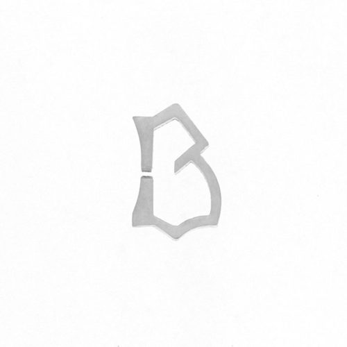 Nineteen Letter B Charm Sterling Silver Yellow Gold Rose Gold