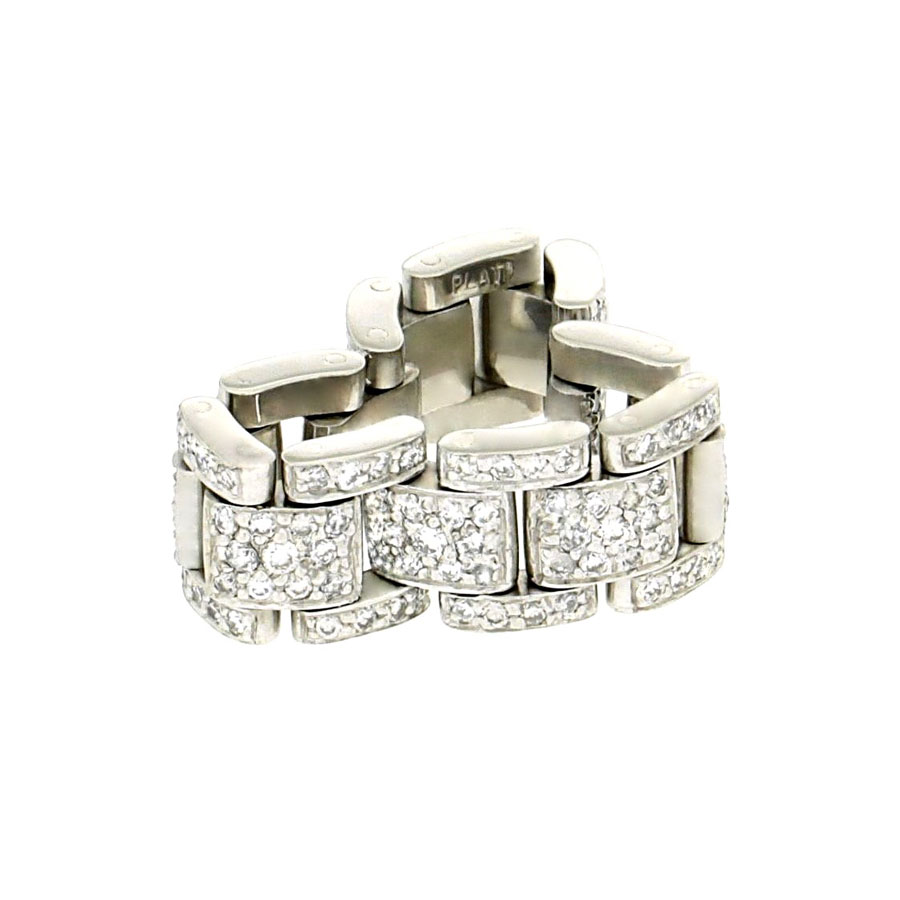 Private Commission Linked Rings Platinum Diamonds