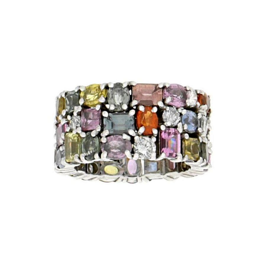 Private Commission Ring White Gold Sapphire Diamond Tanzanite