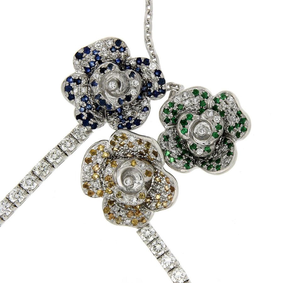 Earrings Necklace Diamonds Sapphires Tsavorites